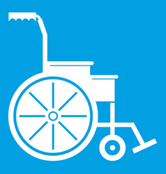 Wheelchair icon white vector