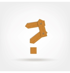 Wooden Boards Question Mark vector image