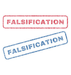 Falsification textile stamps vector