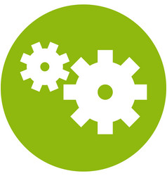 Gears within a circle icon vector