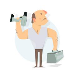 handyman service to call a repairman worker man vector image vector image