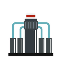 oil refining icon flat style vector image