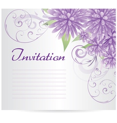 violet flowers background vector image