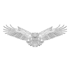 Zentangle stylized eagle Sketch for coloring page vector image vector image
