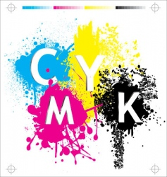 CMYK elements vector image vector image