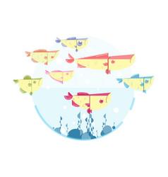 cute many fish vector image vector image