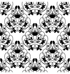 Elegant damask white seamless background vector image