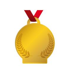 gold award ribbon vector image