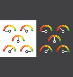 meter signs infographic gauge element vector image vector image