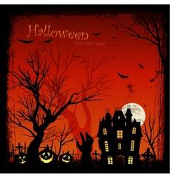 creepy halloween background vector image vector image