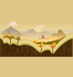 farm game background 2d application desig vector image vector image