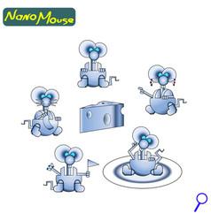 modern nano robot mouse iron cute friendly the vector image vector image