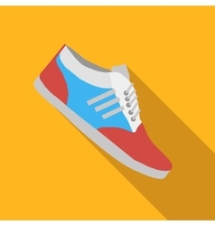 Sport shoes flat icon vector image