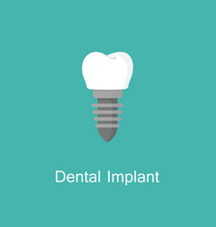 dental implant iconthe symbol of tooth vector image vector image