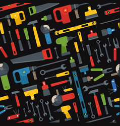 different tools seamless pattern vector image