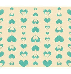 Retro Seamless Pattern with Blue Hearts vector image vector image