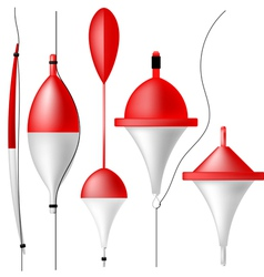 Set of fishing bobbers vector image vector image