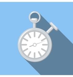 Stopwatch flat icon vector image
