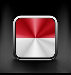 - Monaco Flag Glossy Button icon vector image vector image
