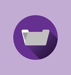 0510p flat folder icon vector