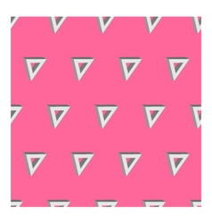 3d seamless triangle background pink vector image