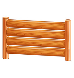 a wooden fence on white background vector image