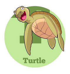 abc cartoon turtle5 vector image