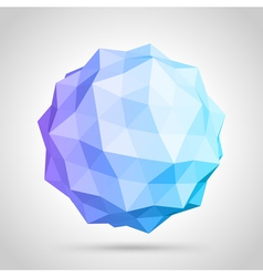 Abstract 3d origami sphere vector image
