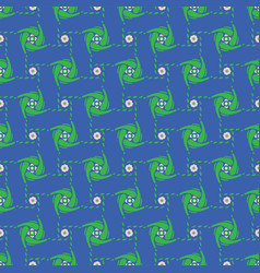 abstract polka dot grid shapes blue and green vector image