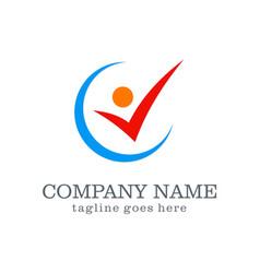 active check logo design vector image
