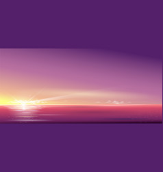 background beautiful sunset over the sea vector image
