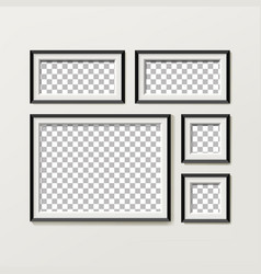 Blank picture frame template composition set vector