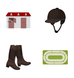 boots grass stadium track rest hippodrome and vector image