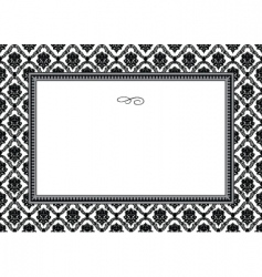 bouquet frame vector image