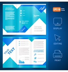 brochure folder leaflet geometric triangle rhombus vector image