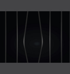 Broken prison bars vector