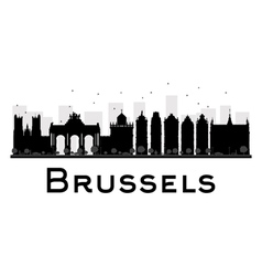Brussels silhouette vector image