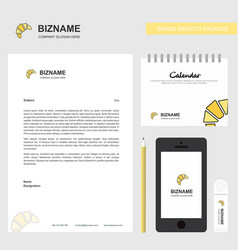 bun business letterhead calendar 2019 and mobile vector image