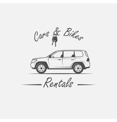 Car rental logo vector
