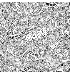 Cartoon Doodles music seamless pattern vector image