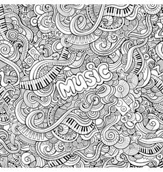 Cartoon Doodles music seamless pattern vector