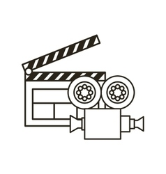 Clapboard and video recorder vector