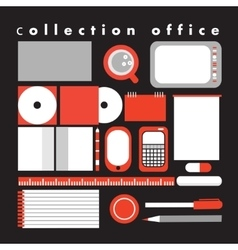 collection office vector image
