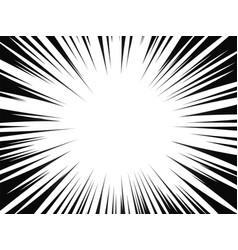 Comic book radial lines comics background vector