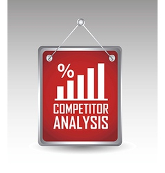 competitor analysis announcement over gray vector image