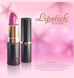 cosmetics design advertising template with vector image