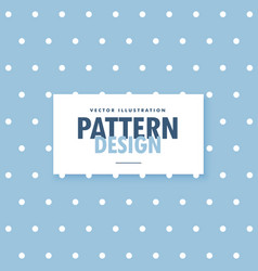 cute blue background with white polka circle dots vector image