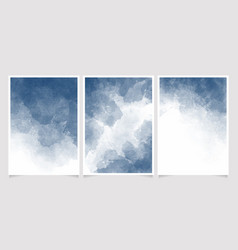 deep blue indigo watercolor wet wash splash vector image