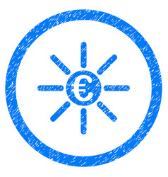 Euro distribution rounded icon rubber stamp vector