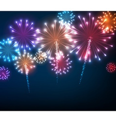 Festive colour firework background vector